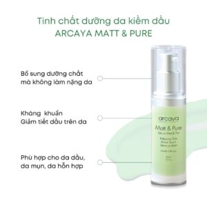 Tinh chất dưỡng da kiềm dầu ARCAYA MATT & PURE