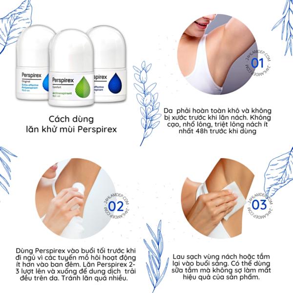 Cách dùng lăn khử mùi Perspirex