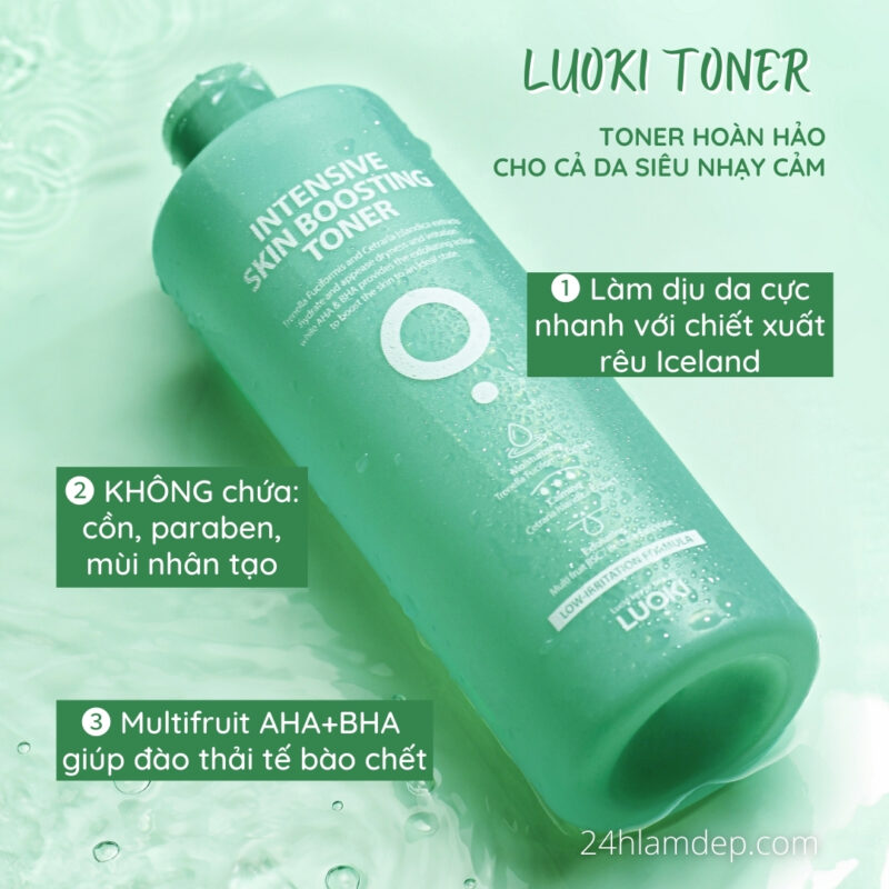Luoki-toner hoàn hảo cho cả da siêu nhạy cảm