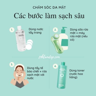 Các bước làm sạch sâu cho da mặt
